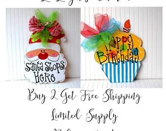 Summer Wreath: Buy 2 FREE SHIPPING, Summer decor, Door Hanger, 4th of July Wreath, Summer Decor