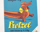 "25% Off Storewide Sale 1972 Classic Book ""Pretzel"" By Margret Rey and the Creators Of Curious George Excellent Condition"