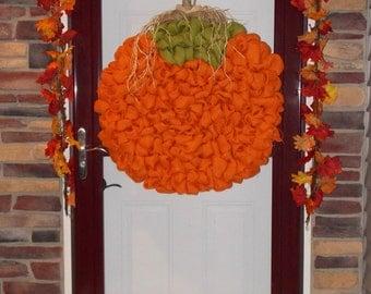 "28"" Huge pumpkin wreath/Fall wreath"