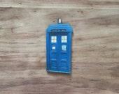 Dr Who TARDIS Wood Needle Minder