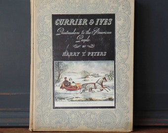 Vintage Book, Currier & Ives, Ephemera, Christmas, Holiday, Prints, Collectibles