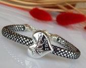 SUMMER SALE Women's Eco Leather Heart Bracelet with Angel Wing pendant