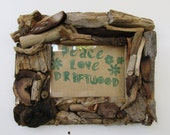 Driftwood Frame 5 x 7, Rustic Beach Frame MADE TO ORDER