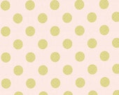 Confection Pink and Metallic Gold Polka Dot Table Runner