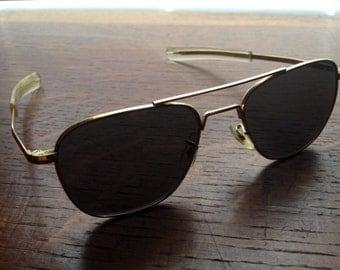 American Optical vintage gold pilot sunglasses