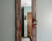 RESERVED for Diether  --  Barnwood Mirror