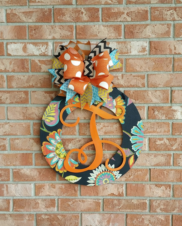 Home Decor Wreaths: Fall Wreath Wood Wreath Front Door Decor Home Decor Wedding