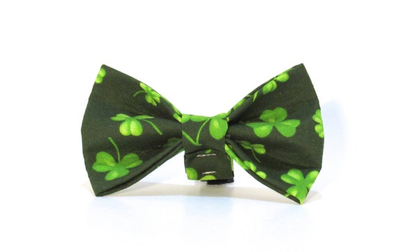 St. Patrick's Day Dog Bow Tie,  St. Patty's Day Dog Bow Tie, Dog Bow Tie, Shamrock Bow Tie