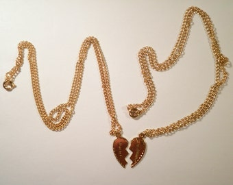 1 Set of Goldplated Best Friends Necklaces
