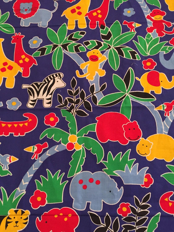 Animal Jungle Fabric Panel Mod Zoo Safari Curtain