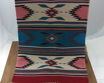 Vintage / Geometric / Wool / Native American /  Colorful Boho / Hippie  / Ethnic /  Rug