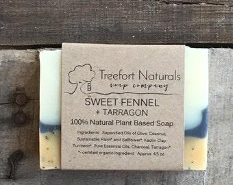 Sweet Fennel & Tarragon Soap - Handmade Cold Process, All Natural, vegan, essential oils, natural soap, herbal soap