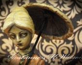 Scary Creepy Doll, Morbid, Victorian Ghost Statue, Haunted, Earthbound Spirit, Dark Art, Poltergeist, OOAK, Repaint, Altered Art, Art Doll