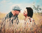 10 Years Anniversary Gift - Fine Art Commission Painting Custom Portrait from Your Photo