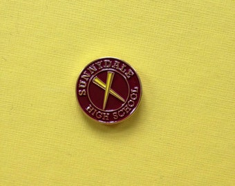 Buffy the Vampire Slayer inspired Sunnydale High School fan pin oldschool look Hellmouth Firefly Serenity Comic Con Angel Willow