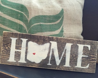 Distressed rustic Ohio Home sign