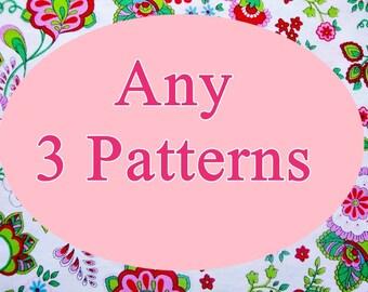 Pick  3 Crochet Patterns