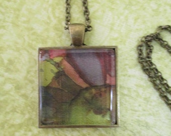 Necklace: Art Pendant - Alcohol Ink Pendant