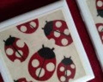 Ladybug Coasters set of 4