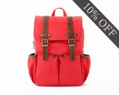 CityKid Anti-Lost Kids Backpack / Canvas Backpack / Kids Bag / Red
