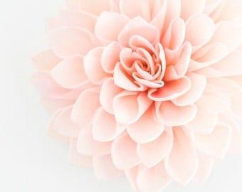"10  4"" Blush Wooden Flowers, Wedding Decorations, Wedding Flowers, Rustic Wedding Decor"