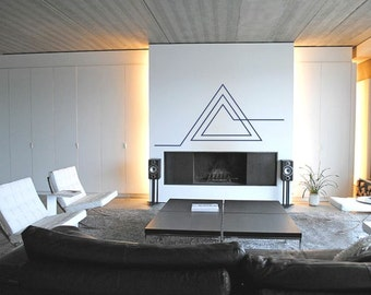Science Art - Geometric Triangle vinyl wall decal sticker - removable vinyl wall decor for office, classroom, playroom minimal decor