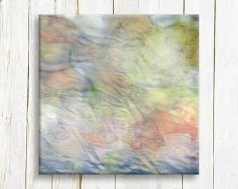 Contemporary Art Print on canvas - Square Abstract art print on canvas - Wedding gift