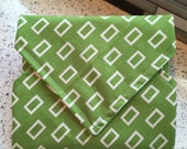 Sandwich Wrap Reusable Green Eco Friendly Children Snack Square Designer Print Bags Pouches Snack Bags Lunch Place Mat School Supplies