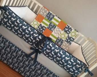 Navy Arrow, Crib Skirt