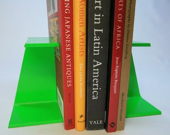 Lime Green I-Beam Metal Bookend