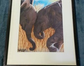 Elephant  love Print ready to hang HAND signed By artist Bella Lyle perfect gift