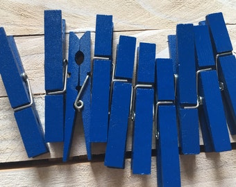 Royal blue clothespins