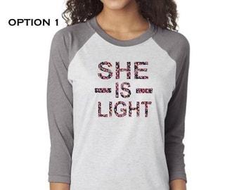 She is Light Pearl Night Retreat Shirts