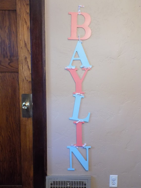 name sign nursery wall letters name decal bedroom wall