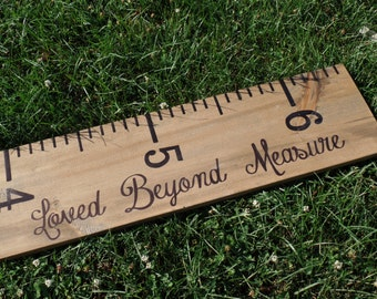 Personalized Giant Child's Measuring Stick, Growth Ruler, Wood Growth Chart, Rustic Wood Ruler, Family Growth Chart, Large Wood Ruler, Ruler
