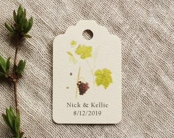 Grape Vineyard Favor Tag Paper Tag