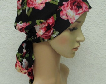 Chemo head wear for women, bad hair day head covering, full headcover, short hair bonnet, head snood, elegant tichel, chemo hats and caps