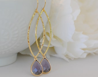 The Georgina Earrings - Amethyst