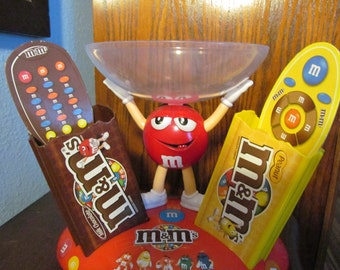 Vintage M & M TV Controller Holder And Candy Bowl