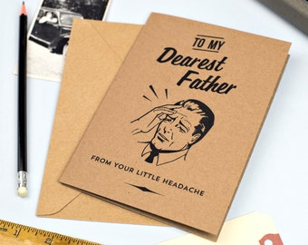 Funny Fathers Day Little Headache Card