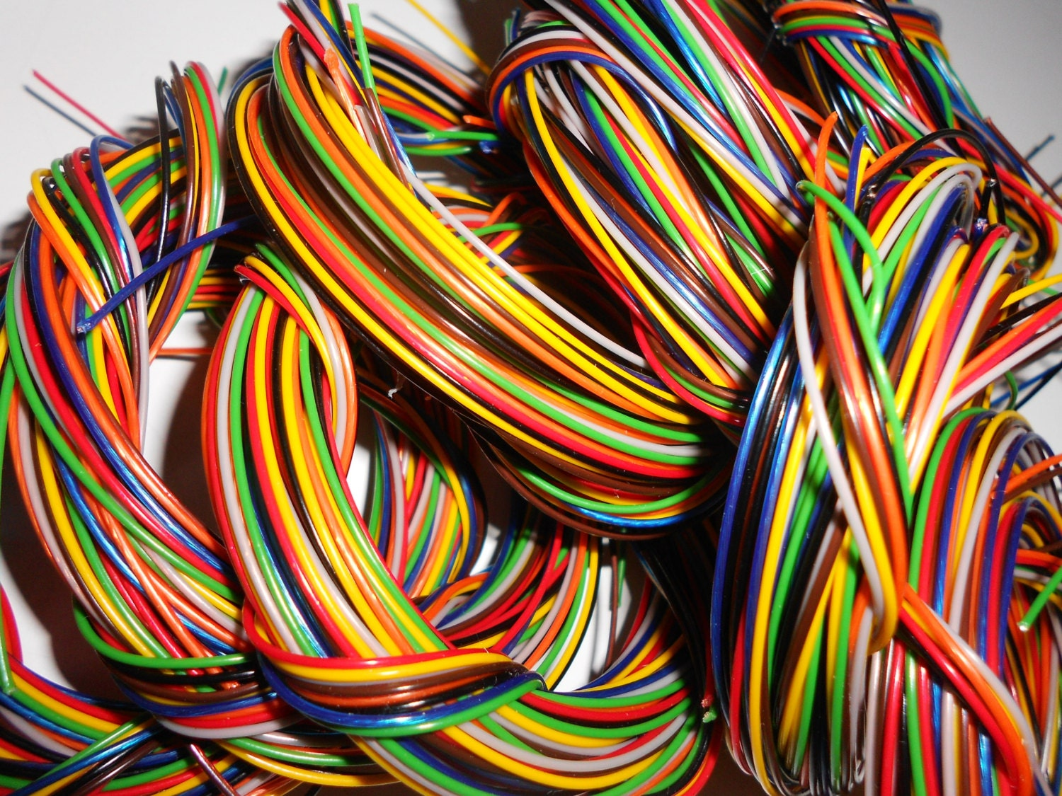 Telephone Wire Craft Supply Plastic Coated Copper Wire Strands