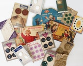 Vintage Sewing Collection - Vintage Buttons - Vintage needlebooks - Vintage Sewing Graphics - Old Button Collection