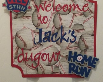 Baseball  Party- Baseball Room Decor- Baseball Birthday Party Sign- Baseball Door Sign