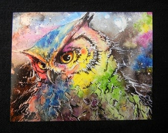 Galaxy Owl:   prints  by Valerie Flynn