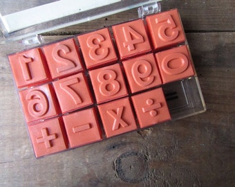 Vintage Rubber Stamps Symbols and Numbers Educational Insights