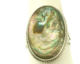 Oyster Shell & Sterling Silver Ring