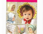 Baby Bonnets, Bonnet Sewing Pattern, Baby Girl Bonnet, Baby Girl Hat,  Simplicity 2908, Baby Girl Extra Small, Medium, Small, Large