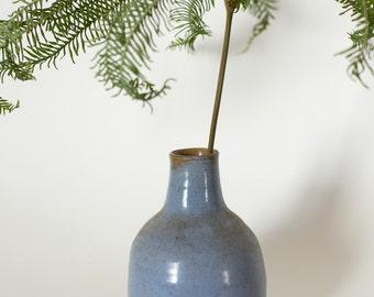 Periwinkle Blue Handmade Ceramic Bud Vase