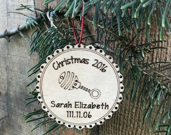 Baby's First Christmas Ornament Baby's First Christmas Gift New Baby Christmas Ornament Baby Ornament Personalized Baby's First Christmas