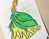 The Princess and the Frog Tiana inspired painting